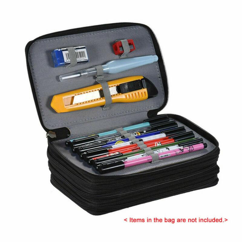 Gran capacidad 4 capas 72 caja de lápiz bolsa organizador de almacenamiento pluma caso titular/por Pantalla Ultra grande de 3