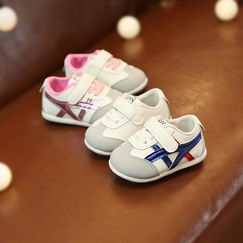 0 à 18 mois bébé garçons et filles chaussures enfant en bas âge chaussures de sport nouveau-né fond souple première marche chaussures de mode antidérapantes 2