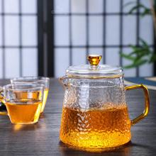 400ML Glass Teapot With Lined Filter Home Office Tea Coffee Kettle Cups Set Heat Resistant Hammer Flower Tea Pot New Year Gift teflon lined hydrothermal synthesis autoclave reactor 400ml ptfe lined vessel inner sleeve high pressure digestion tank