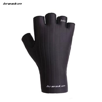 Liteskin guantes de ciclismo Iceborn medio dedo bicicleta de carretera MTB deporte al aire libre montar en gimnasio hombres mujeres silicona fibra de secado rápido LICRA