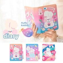 A6 Binder Kawaii Spiral Diary DIY Notebook Agendas Planner Organizer Note Books Cute Traveller Journal School Handbook for Girls