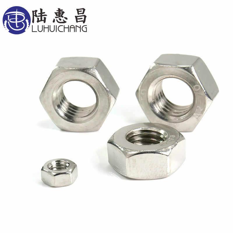 LUHUICHANG m1 m1.2 m1.4 m1.6 m2 m2.5 m3 m4 m5 m6 หรือ m8 (20 pcs) สแตนเลสสตีลเมตริกด้าย Hex Nut Hexagon Nuts Metric Nut
