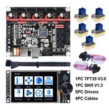 BIGTREETECH SKR V1.3 32Bit Board+TFT35 V3.0 Touch Screen+5pc TMC2208 TMC2209 UART TMC2130 spi 3D Printer Parts MKS SGEN gen L