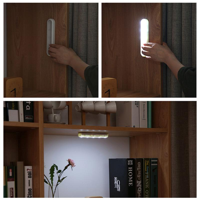 5 LED Nightlight Wireless Hand-pressed Under Cabinet Light Closet Lights For Wardrobe Cupboard Nightlamp Portable Stair Kitchen