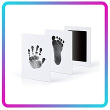 Güvenli toksik olmayan bebek ayak izleri el izi dokunmatik cilt mürekkepsiz mürekkep pedleri kitleri 0-6 ay yenidoğan pet köpek Paw baskılar hatıra