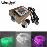 RGB Colorful LED Fiber Optic Engine Kit Star Ceiling Light with 16W led drive 0.75mm 2m 150pcs 24key IR Remote