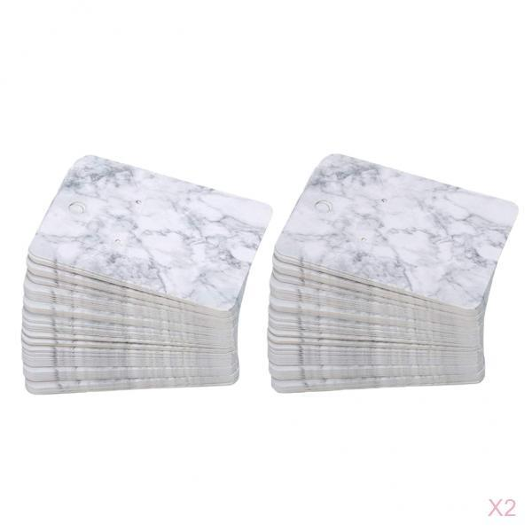 200 Pieces 5*7 Cm Color Printing Creative Earring Packaging Cards Marble