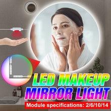 Dc 5v косметическое зеркало светильник usb ручная развертка