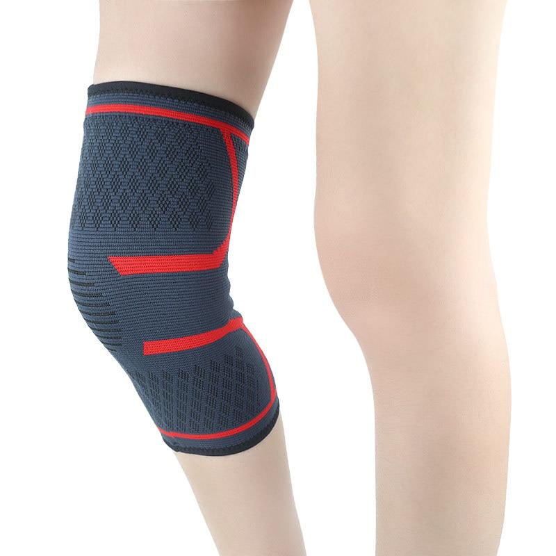 Sports Knee Pad Outdoor Riding Mountaineering Leg Running Sleeves Four-way Elastic Non-slip Warm Nylon Kneepad Mens Knee Sleeve