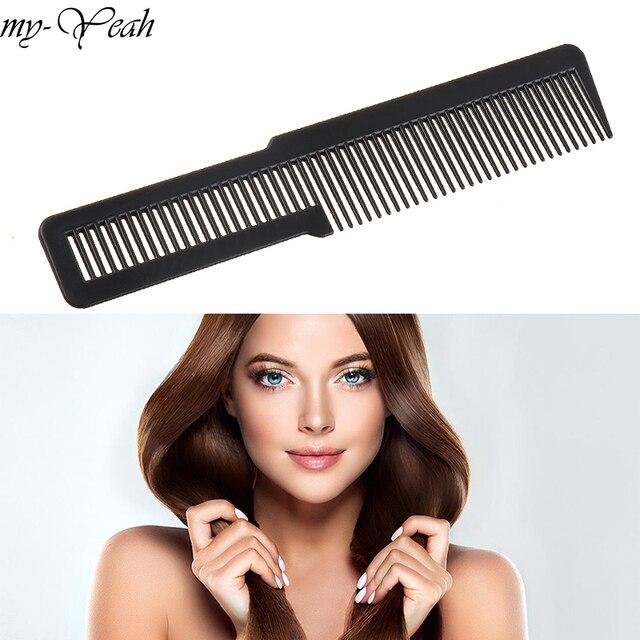 1 adet profesyonel kuaförlük plastik saç kesme tarağı yeni tasarım dayanıklı Salon saç kırpma tarak kuaförlük aracı DIY ev