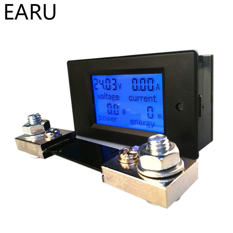 Цифровой измеритель напряжения, постоянного тока 6,5-100 в 0-100 А 0-20 А с ЖК-дисплеем