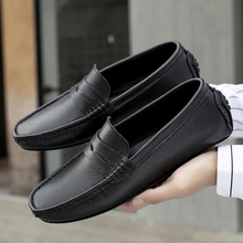 Men's Shoes Footwear Slip-On Soft-Cow-Leather Casual Business-Flats Male Brand New Loafers