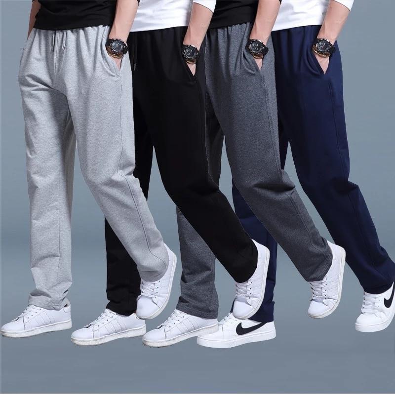 Sports Men's Pants Fall 2020 New Large Size Loose Thin Casual Student Sweatpants Men's Straight High Waist Training Pants L-5XL