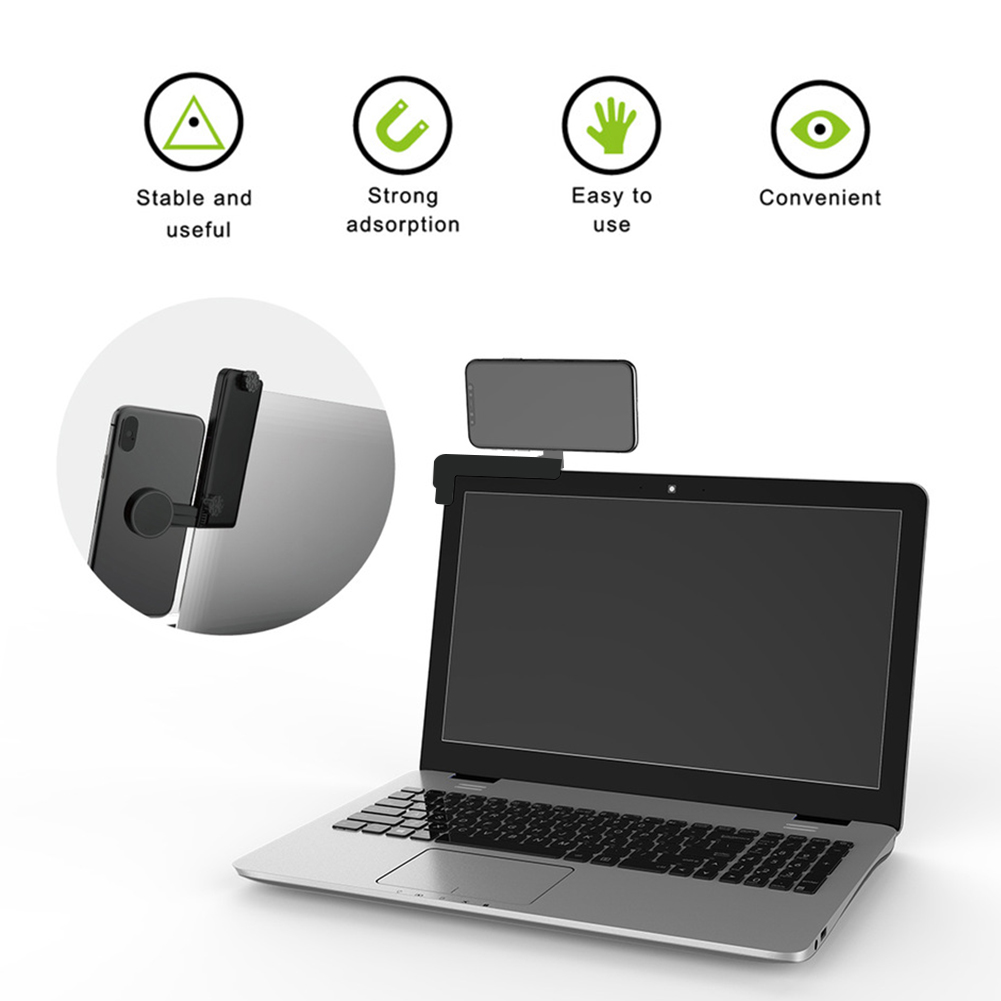 Multi Screen Connection Phone Holder Support Dual Monitor Silicone Portable Adjustable Clip Laptop Side Bracket Magnetic Fixed
