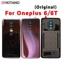 Oneplus funda de cristal para Oneplus 6 6T, carcasa para batería, Panel trasero, carcasa trasera para batería