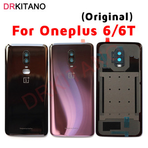 Image 1 - Original NEW Back Glass Cover Oneplus 6 6T Battery Cover Door One PLUS 6 Housing Rear Panel Case Oneplus 6T Back Battery Cover