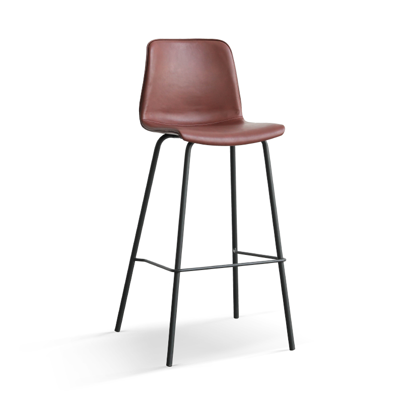Bar Chair Ins Net Red Designer Nordic Wrought Iron High Chair Retro Leather Art Bar Stool Front Desk Chair
