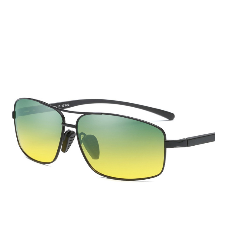 New Style Polarized Sunglasses Metal Frame Aluminum And Magnesium Legs Day And Night Dual Purpose Driving Driver Driving Glasses