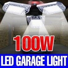 E27 lumière LED ampoule 220V déformable lampe Garage lumière extérieur étanche IP65 60W 80W 100W Bombilla 110V UFO éclairage entrepôt