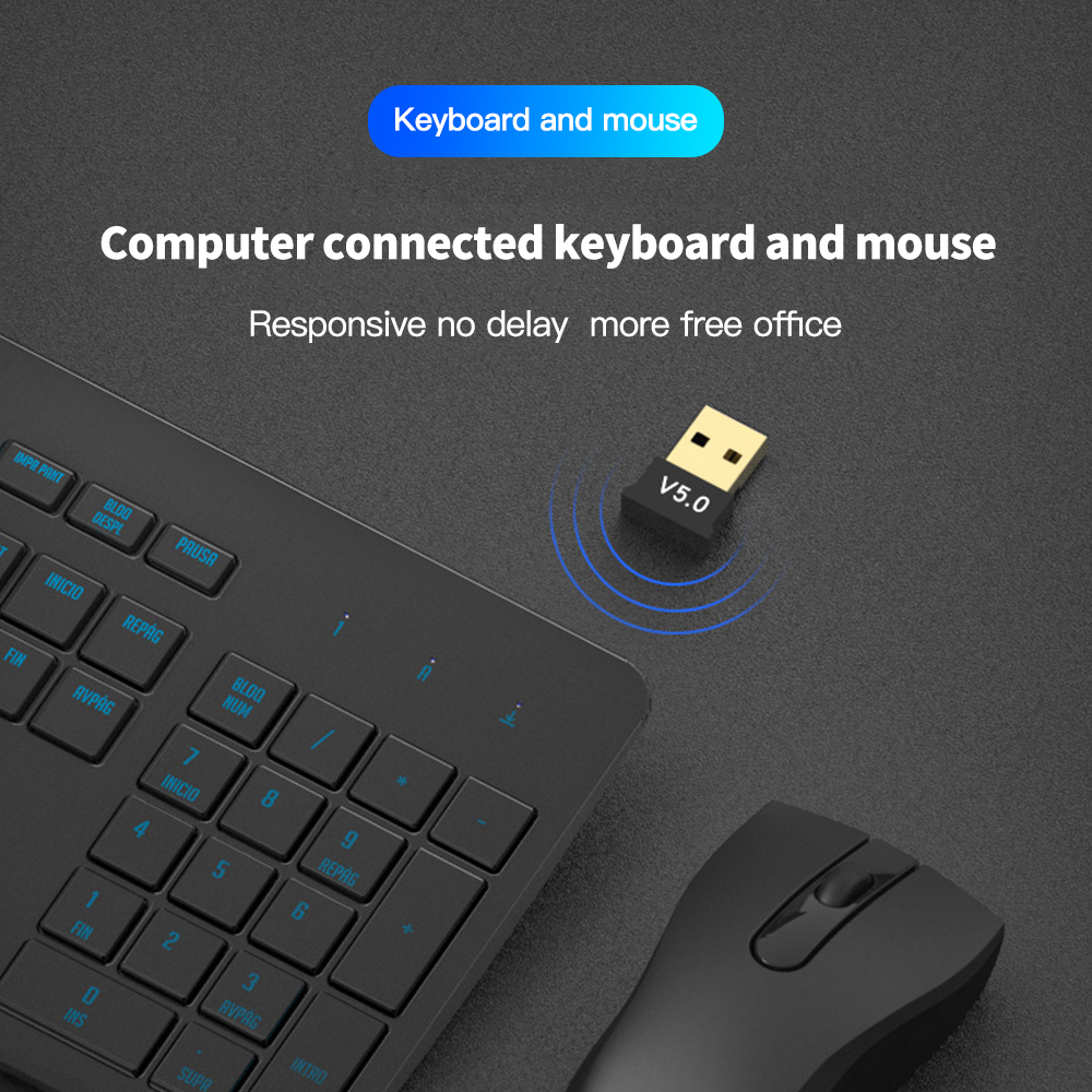 Wireless USB Bluetooth 5.0 4.0 Adapter Transmitter Music Receiver MINI BT5.0 Dongle Audio Adapter for Computer PC Laptop Tablet 4