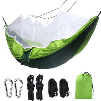 Lightweight Portable Camping Hammock Mosquito Net Parachute Camping Survival Garden Hunting Double Person Leisure Hammock
