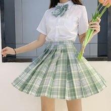 Японская школьная форма зеленые юбки платья для девочек костюмы