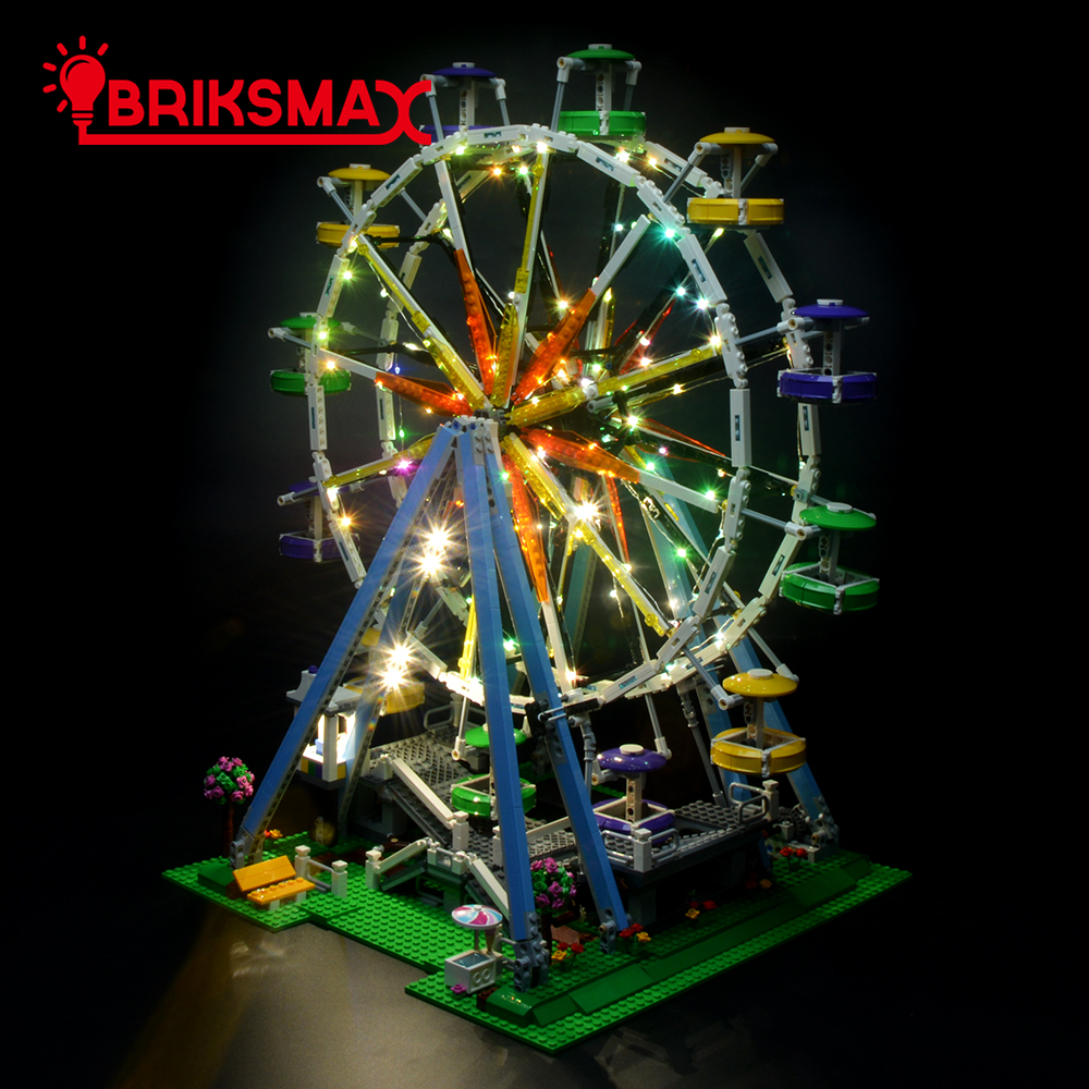BriksMax Led Lighting Kit For Creator Ferris Wheel Blocks Light Set Compatible With 10247 (NOT Include The Model)