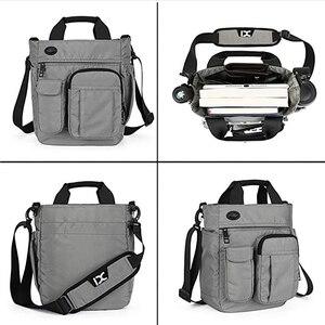 Image 4 - Borsa A Tracolla da uomo, Multi funzionale Crossbody Messenger Bag Sacchetto di Affari della Cartella Sling Viaggio iPad Documenti Valigetta