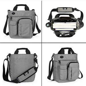 Image 4 - メンズショルダーバッグ、多機能クロスボディメッセンジャーバッグビジネスサッチェルスリングバッグ旅行ipad文書ブリーフケース