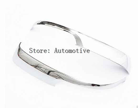 Coche parte trasera espejo ventana trim espejo retrovisor protector ajuste para Toyota Prado 2010, 2014, 2015, 2016, 2017 abs chrome 2 uds por conjunto