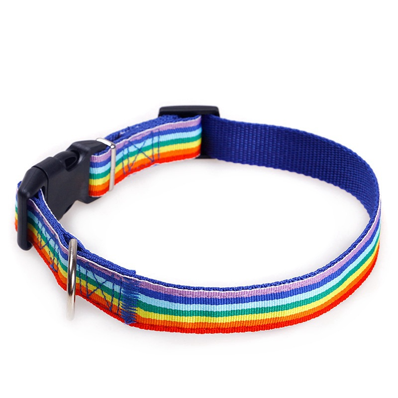 Pet Supplies Dog Hand Holding Rope Nylon Color Dog Collar Safe Extendable Pet Traction Rope