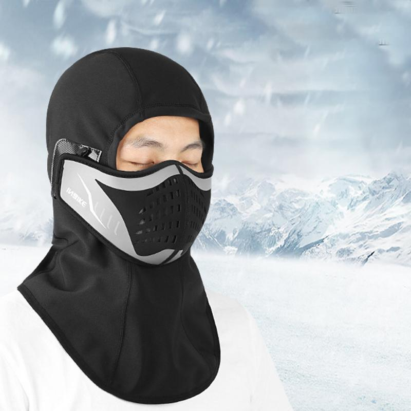 Motorcycle Mask Skiing Windproof Soft Full Face Cycling Mask Warm Detachable Winter Outdoor Sports Riding Keep Warm Anti-static