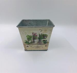 Image 3 - 12 juegos por lote, D14XH11.5CM, florero pequeño, macetas, centro de mesa de hierro para Pascua y decoración del hogar al por mayor