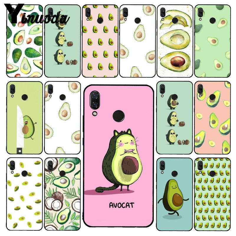 Yinuoda Avocado Aesthetic Gteen Fruit Food Phone Case For Xiaomi Redmi Note 7 5 4 Redmi 5plus 6A Note8 4X Note8Pro