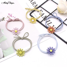 High Elastic Hair Tie Colorful Daisy Band For Girls Rope Headband Scrunchies Sweet Ring Gum New Arrival