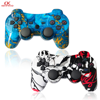 K ISHAKO 6 axis Wireless Game Controller For Snoy PS3 Gaming Joystick usb joystick for pc Bluetooth Vibration Gamepad