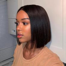 Short Straight Bob Wigs Lace Front Human Hair Wig 4x4 Wig Pre Plucked With Baby Hair For Black Women Brazilian free shipping women short wigs new human bob wigs short straight highlight hair black bobo wig for women glamorous fashion free shipping