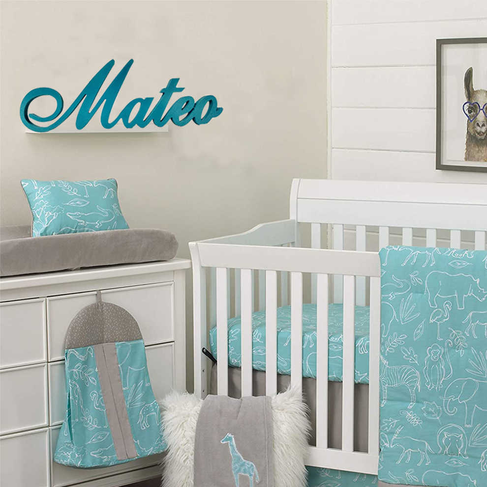 Custom Personalized Wooden Name Sign CHARLOTTE Font Letters Baby Name Plaque PAINTED Nursery Name Nursery Decor Wooden Wall Art,