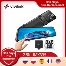 Driving-Recorder Hf12mq-Mirror Dash-Cam Rear-View-Camera Touch-Screen Vantop Night-Vision