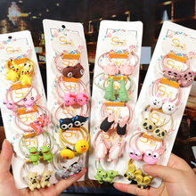 Cartoon Animal Flowers Princess Scrunchie Children Girls Kids Elastic Hair Rubber Bands Accessories Tie Hair Ring Rope Headdress(China)