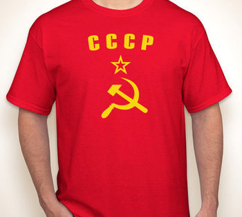 CCCP HAMMER & SICKLE Russia/Russian Soviet Union USSR Red Jersey T-Shirt Cotton O-Neck Short Sleeve Men's T Shirt New Size S-3XL недорого