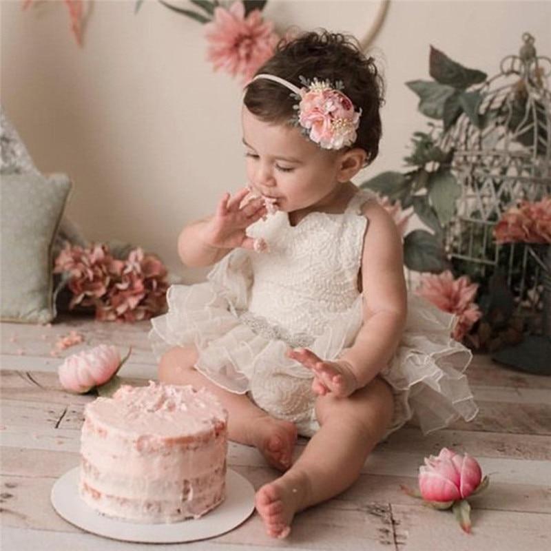 Roupas infantis de 0 a 24 meses, roupas para crianças, recém-nascidos, macacão de renda plissada, vestido de tutu sem mangas, roupas de festa fofas para princesas