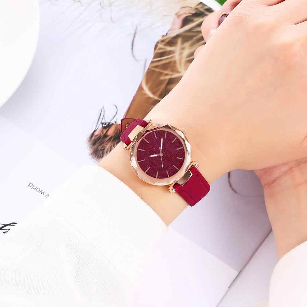 Relogio feminino 2019 حار النساء الساعات السيدات موضة الكورية حجر الراين ساعة كواريز ذهبية وردية اللون الإناث حزام ساعة reloj mujer #102