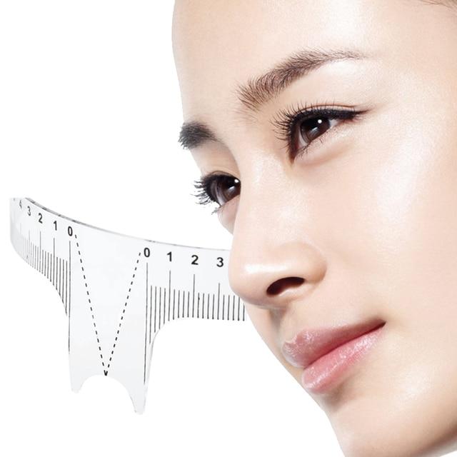 Reusable Semi Permanent Eyebrow Ruler Eye Brow Measure Tool Eyebrow Guide Ruler Microblading Calliper Stencil Makeup 20cm 2