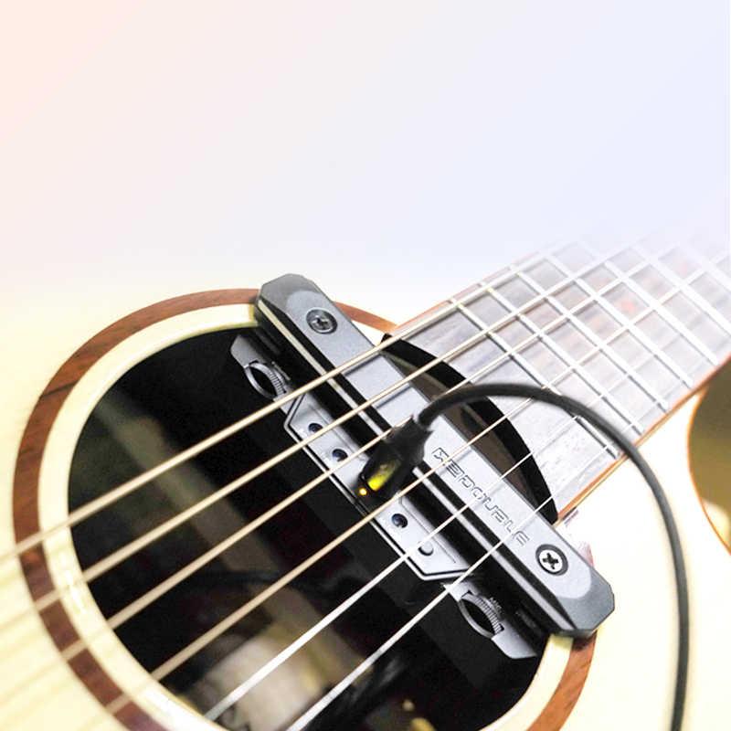 Pastilla de guitarra doble X0 para amplificador de guitarra acústica clásico profesional Kit de pastillas de instrumentos musicales transductor de agujero de sonido