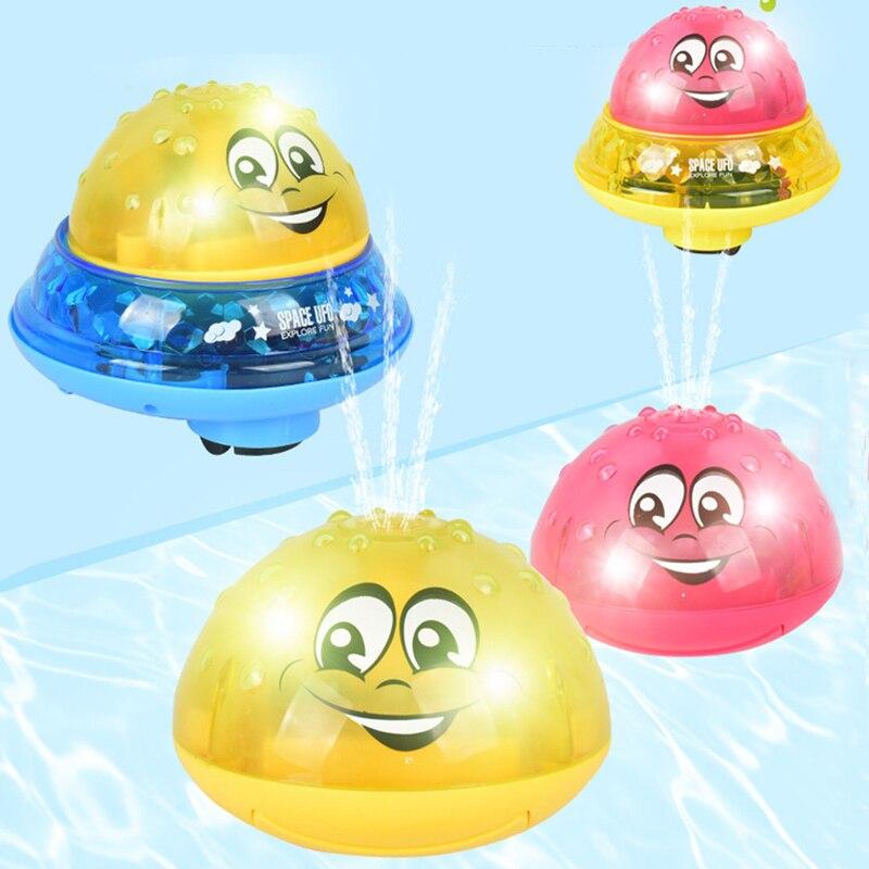 Drôle infantile bain jouets bébé électrique Induction boule d'arrosage avec musique légère enfants eau jouer balle bain jouets enfants cadeaux