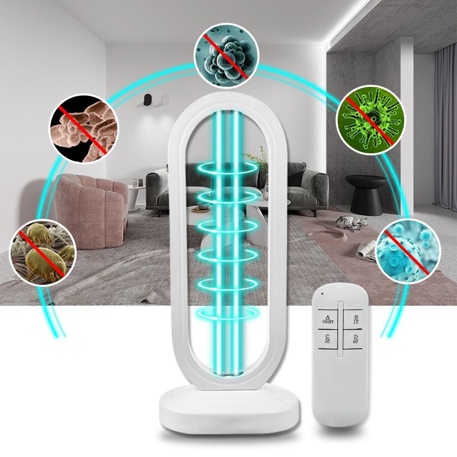 220V Household Ultraviolet Lamp 3-block Timer UV Lamp Sterilizer 50W 110V UV Ozone Quartz Lamp UVC Germicidal Disinfection Light