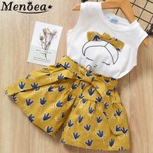 Girls Clothes 2016 Summer Style Boys Clothing Sets Cartoon Print T-shirt+Short 2Pcs for Kids Clothes 3-7Y Children menoea 2017 brand new summer casual style kids clothing sets girls clothing sets t shirt short 2pcs for girls clothes