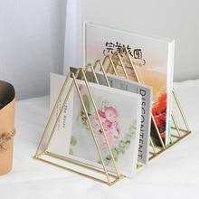 Скандинавские простые креативные кованые книжные полки ремесла стол дисплей хранения стойки настольные аксессуары держатели и стойки для хранения