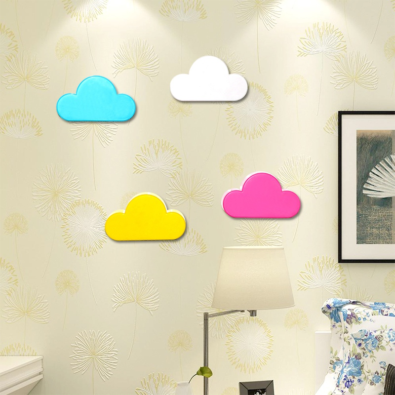Hot Key Holder Crochet Pink Yellow Cloud Shape Magnetic Hanger Magnets Key Holder Wall Keys Securely Wall Hook Home Kitchen